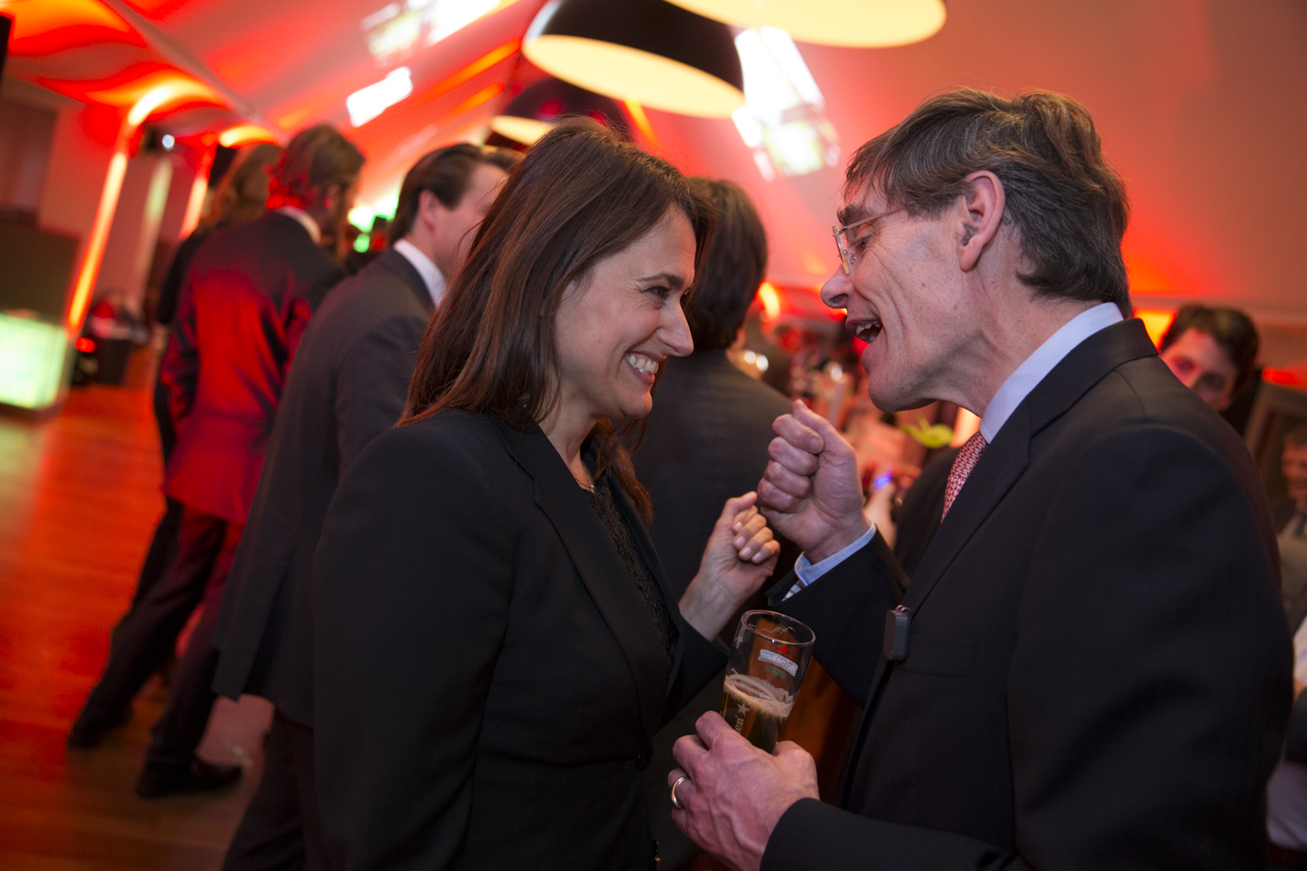 Véronique Schyns and René Hooft Graafland and his farewell reception, Amsterdam, April 2015. Photo credits Sander Stoepker.